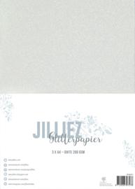 Jilliez A4 Glitterpapier Parelmoer