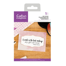 Crafter's Companion Clear stempel - Best Makeup