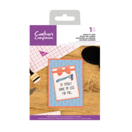 Crafter's Companion Clear stempel - Shave My Legs