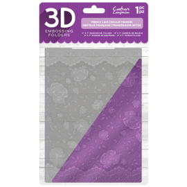 "Gemini 5""x7"" cm 3D-embossingfolder - French Lace"