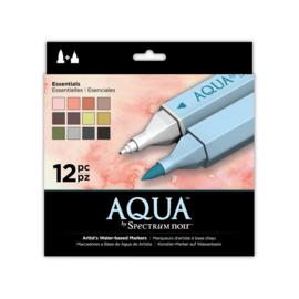 Spectrum Noir Aqua Markers 12 Pen Sets - Essential