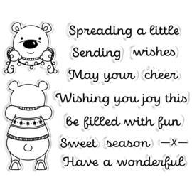Peek-A-Boo Clearstamp & Snijmal Kerst - Polar Bear