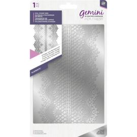 Gemini Folie Stamp mal - Elementen - Vintage Lace (Kant) Achtergrond