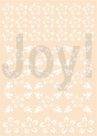 Polybesastencil - Bloemen-achtergrond