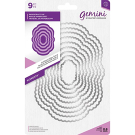 Gemini Elements - Scalloped Edge Oval 2 (Geschulpte rand ovaal 2)