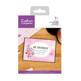 Crafter's Companion Clear stempel - Be Yourself