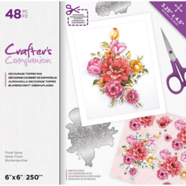CC- Uitdrukvellen blok - Floral Spray