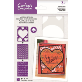 CC - Layering Kaleidoscope Stencil - Sweet Love