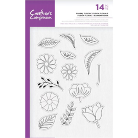 Crafter's Companion A5  clearstamp - Floral Fusion