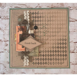 Crafter's Companion Grote Background Clearstamps - Distressed Harlequin