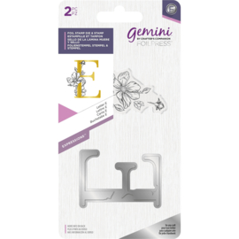 Gemini Metalen folie stempel & Clearstamp - Expressions - Letter E