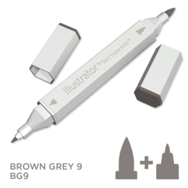 Spectrum Noir Illustrator losse pennen - Brown Grey (Bruingrijs BG9)