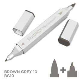 Spectrum Noir Illustrator losse pennen - Brown Grey (Bruingrijs BG10)