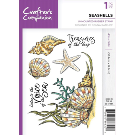 Crafter's Companion A6 unmounted rubberen stempel - Seashells