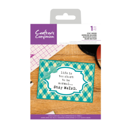 Crafter's Companion Clear stempel - Stay Weird