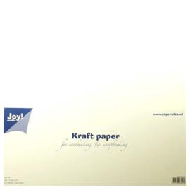 Kraft papier Scrapformaat 30,5 x 30,5 cm wit
