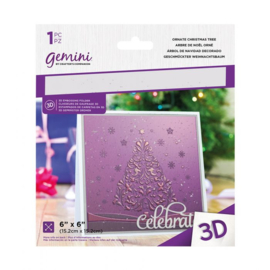 Gemini 15x15 cm 3D-embossingfolder - Ornate Christmas Tree