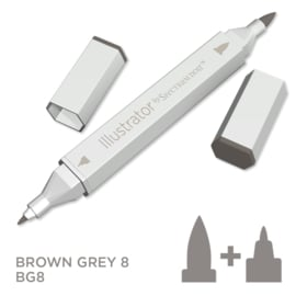 Spectrum Noir Illustrator losse pennen - Brown Grey (Bruingrijs BG8)
