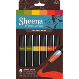 Sheena Douglass Sparkle 6 Pen Sets - Hot and Spicy