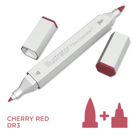 Spectrum Noir Illustrator losse pennen - Cherry Red (Kersenrood DR3)