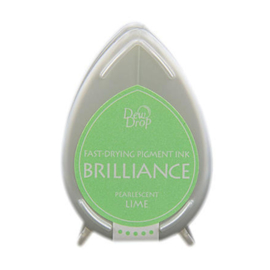 Dew Drop Brillance Ink Pad Pearlscent Lime