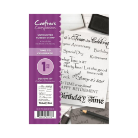 Crafter's Companion A6 unmounted rubberen stempel - Time to Celebrate