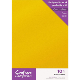 Crafter's Companion Glitter karton A4 a 10 vel - Solar Gold