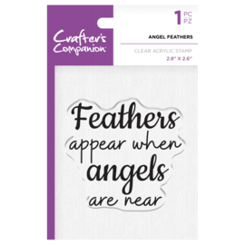 Crafter's Companion Clear stempel - Angel Feathers