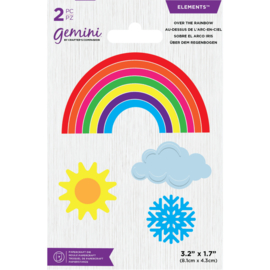 Gemini Elements snijmal - Over the Rainbow (Regenboog)