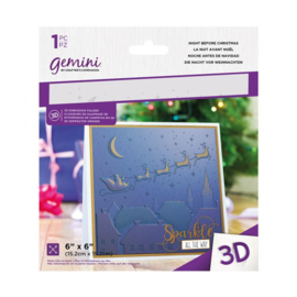Gemini 15x15 cm 3D-embossingfolder - Night Before Christmas