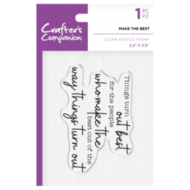 Crafter's Companion Clear stempel - Make the best