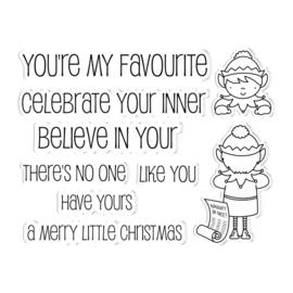 Peek-A-Boo Clearstamp & Snijmal Kerst - Elf