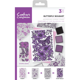 Crafter's Companion Background Layering Clearstamps - Butterfly Bouquet