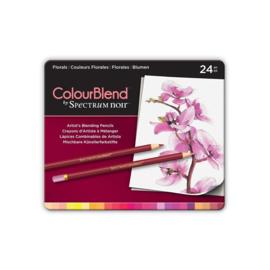 Colourblend Potloden a 24 stuks - Florals