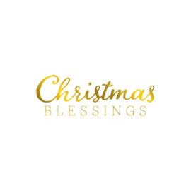 Gemini Foil Stamp 'N' Cut snijmal - Expressions - Christmas Blessings