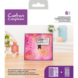 CC - Stencil/Clearstamp set - Happiness Blooms