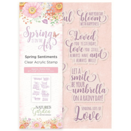 Nature's Garden Acryl Stempel - Spring sentiments