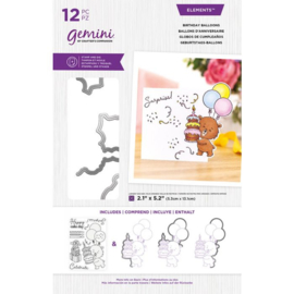 Gemini Clearstamp & snijmallen set - Birthday Balloons