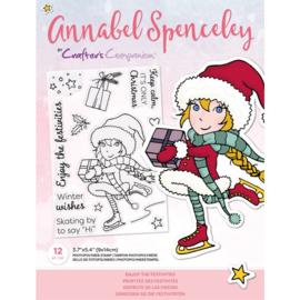 Annabel Spenceley Clearstamp - Enjoy The Festivities