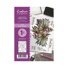 Crafter's Companion A6 unmounted rubberen stempel - Find your wings