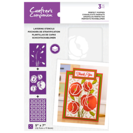 CC - Layering Floral Stencil - Perfect Poppies