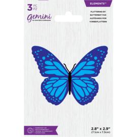 Gemini Elements snijmal - Fluttering By (Fladderende Vlinder)