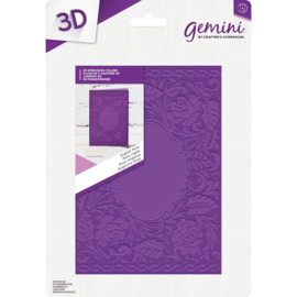 "Gemini 5""x7"" cm 3D-embossingfolder - English Rose"