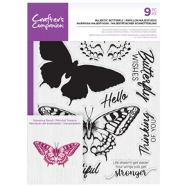 Crafter's Companion Layered clearstamp - Majestic Butterfly