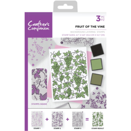 Crafter's Companion Background Layering Clearstamps - Fruit of the vine