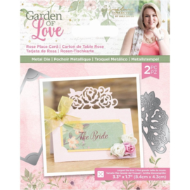 Garden of Love - Metalen snijmal - Rose Place Card