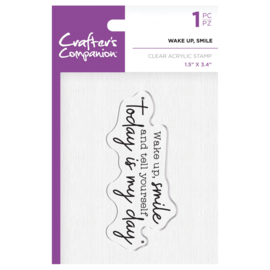 Crafter's Companion Clear stempel - Wake up, Smile