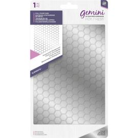 Gemini Folie Stamp mal - Elementen - Honeycomb (Honingraat) Achtergrond