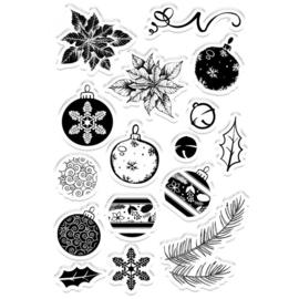 Clearstamp Kerst set - Festive Decorations