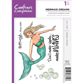 Crafter's Companion A6 unmounted rubberen stempel - Mermaid dreams